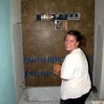 Karen remodeling guest bathroom
