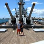 Kenny and Karen on the USS Missouri