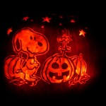Woodstock and Snoopy-o-lantern