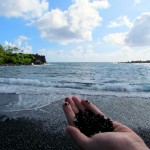Black Sand Pepples
