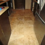 Finished Travertine Floor