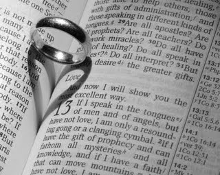 ring on bible Sunday Scripture   1 Corinthians 13:4 7