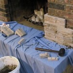 Making a Great Room- Resurfacing the Fireplace Part 2