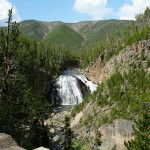 9926799556 32e17a0251 z 150x150 Rustic Falls: Roadside Waterfall in Yellowstone