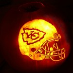 Pumpkin Carving: Kansas City Chiefs-o-lantern