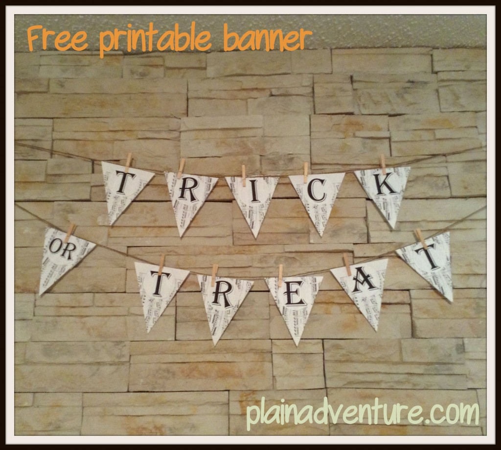 banner 1024x920 Free Printable Trick or Treat Banner