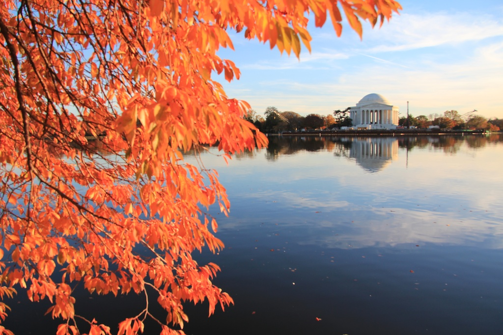 Washington DC Jefferson Memorial Fall Made our Bucket List: Washington D.C.